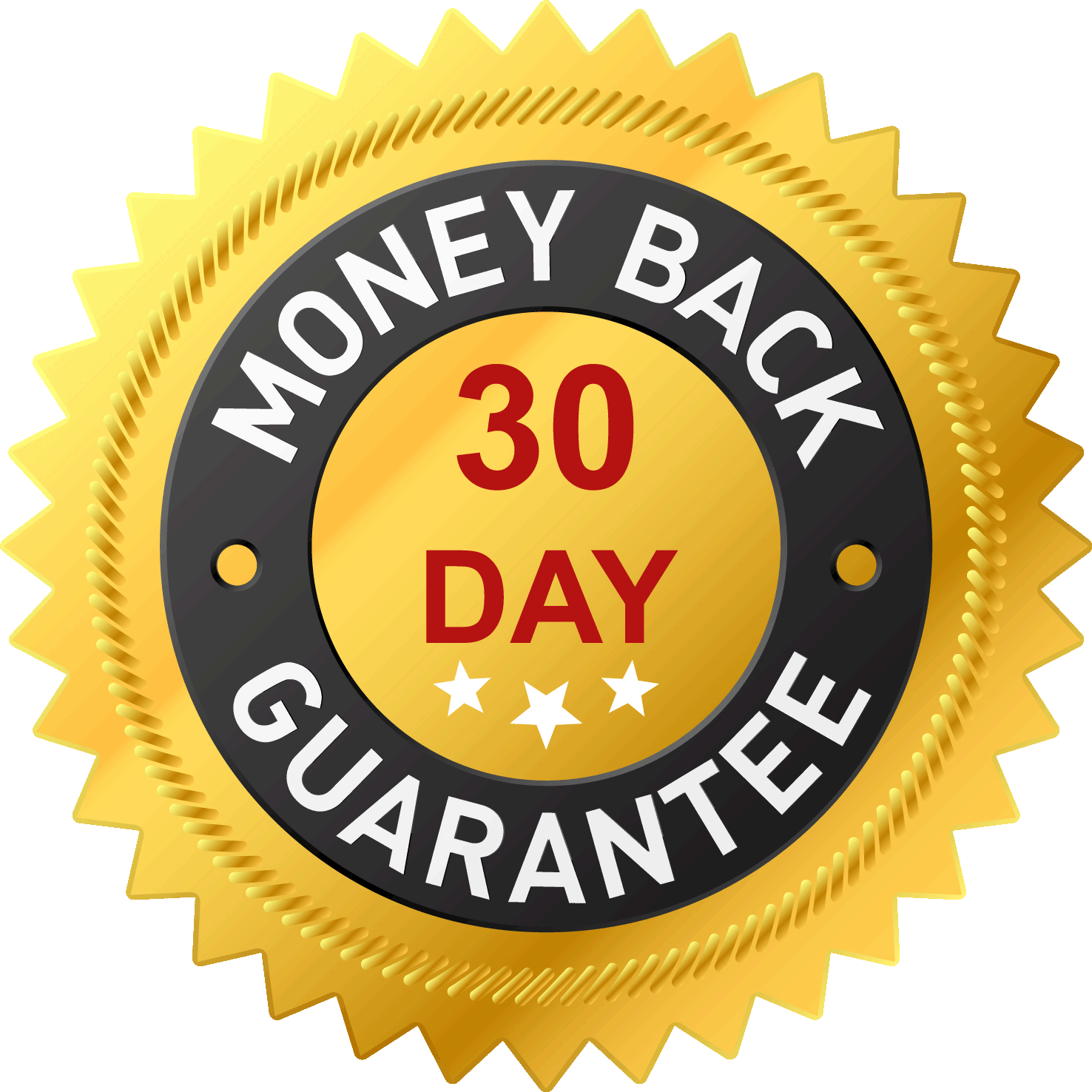 Money Back 30 Day Guarantee Logo RestauriRaia.com