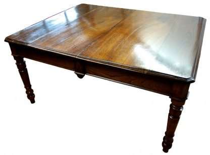 Dining table 1800 cherry wood and extensible chestnut 3 meters long