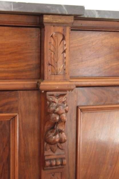 low walnut sideboard