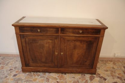 Low French sideboard, serving solid walnut walnut, eight hundred