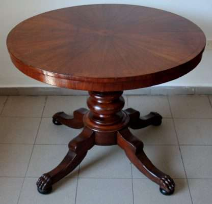 Louis Philippe mahogany circular table inlaid