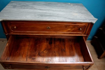 Nineteenth-century chest of drawers in solid walnut
