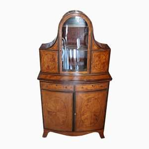 Old English George III showcase early nineteenth century